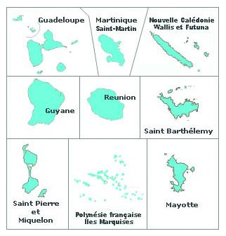 Carte DOOM - Pôle outre-mer